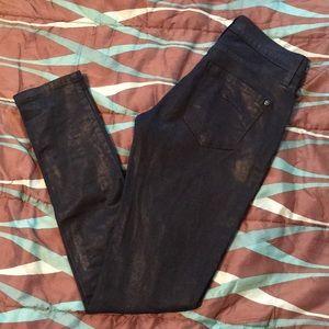 James Jeans Coated Twiggy Skinny Jeans size 25